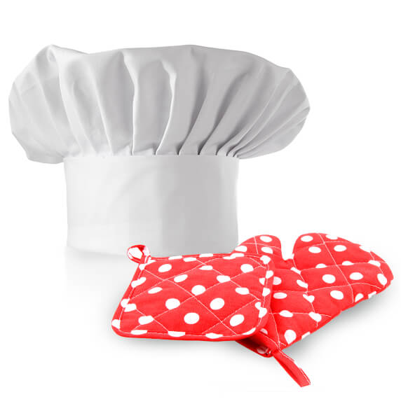 Chef's hat and gloves