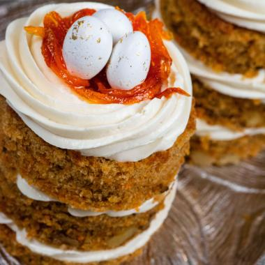 Carrot Cake with Cream Cheese Yogurt Frosting